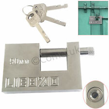 Heavy Duty Anti Rust Shutter Padlock Security Shackle Lock 90MM Large Pad Lock