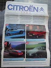 Citroen - Magazine brochure 1983 2CV, Visa, GSA, CX and LNA