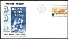 APOLLO 11 LUNAR LANDINNG 1ST MAN ON THE MOON Dow-Unicover Cachet '69 Space Cover