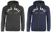 Men's Lonsdale Boxing Zipped Hoodie Jumper Sweater Charcoal Navy S M L XL 2XL