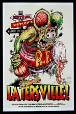 Ed BIG DADDY Roth LATERSVILLE RAT FINK Art Poster SIGNED by JOHNNY ACE & KALI