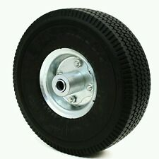 "10"" Air Tire Rubber Wheel Dolly Hand Truck Wagon Cart Pneumatic 2PC 300LB Max"