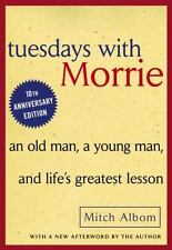 Tuesdays with Morrie Mitch Albom Hardcover Inspirational Book