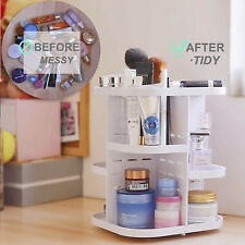 360Degree Rotating Acrylic Makeup Cosmetic Organizer Case Storage Display Holder