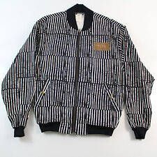 Vintage 90s Ocean Pacific Striped Jacket Bomber Size M Black White