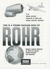 1951 Rohr Aircraft Co. Ad Boeing B-50 Bomber Engines Power Package