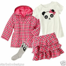 NWT Gymboree PANDA ACADEMY Outfit,Coat Jacket,Top,Shirt,Skort,Skirt,Socks,Size 4