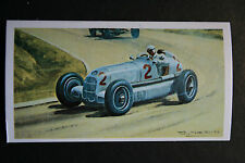 Mercedes W35  Carraciola  1935 French GP  Motor Racing Illustrated Card   VGC