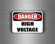 sticker car auto moto tuning decals vinyl jdm biker danger high voltage warning