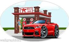 Big A Gas 2015 Ford Mustang Convertible Wall Decal Cling Graphic Sticker Poster