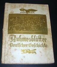 Old Picture Card Type Book - The History Of Germany - Printed Dresden