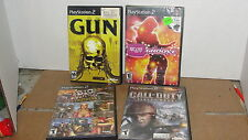 4 PLAY STATION 2 GAMES - NO MEMORY CARDS