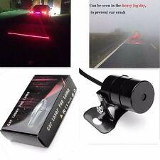 New Car Laser Fog Warning Lamp Red Lights Driving Safety Anti  Collision Light