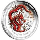 Australian Lunar Silver Coin Series II 2012 Year of the Dragon 1oz Coloured Proo