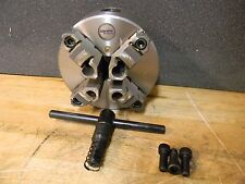 """Gibraltar 4"""" dia 4-Jaw Self Centering Lathe Chuck with Plain Back Mount"""