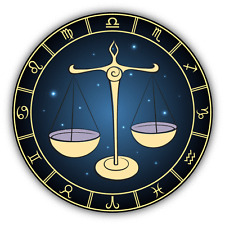 "Libra Zodiac Sign Car Bumper Sticker Decal 5"" x 5"""