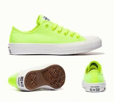 Men Women CONVERSE All Star CHUCK 11 NEON OX VOLT GREEN Trainers Shoes UK SIZE 9