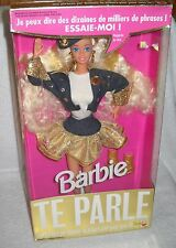 #7075 NRFB Mattel Foreign Te Parle French Super Talk Barbie Doll