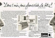 PUBLICITE  1978   CUISINE 1    les magasins de la cuisine intégrée (2 pages)