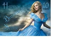 Cinderella Lily James  Birthday card Personalised A5