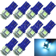 10X T10 5050 5-LED SMD 194 168 W5W Glace Bleu XÉNON Wedge Ampoule Voiture Queue