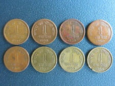 1 NAYA PAISE COMPLETE SET FROM 1957 TO 1963 AND 1 PAISE FROM 1964 8 COIN SET