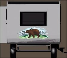 Brown Bear Mountain Woods decal Camper RV motor home mural graphic