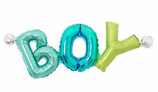 Boy Lettering Giant Mylar Foil Balloons Baby Shower Birthday Party Decorations
