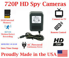 SecureGuard HD 720p AC Power Charger Adapter Nanny Cam SPY CAMERA