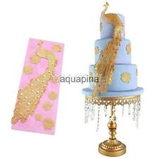 Silicone Peacock Lace Fondant Cake Chocolate Sugarcraft Pastry Mould Mold