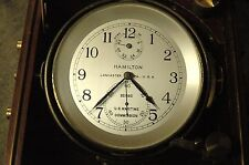 WWII Hamilton Model 21 Marine Chronometer Maritime Commission
