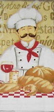 Le Chef Fresh Bread Wine cotton kitchen dish towel