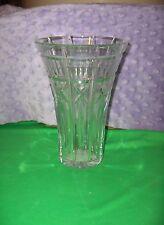"""Vintage Waterford Crystal Welcome 8"""" Vase Crosses Optic Squares NICE"""