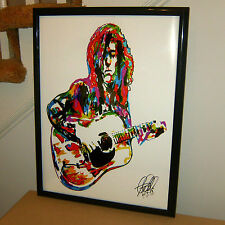 Jimmy Page, Led Zeppelin, Guitar Player, Hard Rock, Blues, 18x24 POSTER w/COA