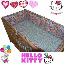 HELLO KITTY® Bumper Set for Baby Kid Child Cot Bed Bedding 100% Cotton Gift Love