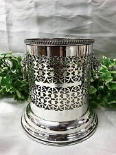 Beautiful Viners Of Sheffield Antique Vintage Silver Plate Pierced Bottle Holder