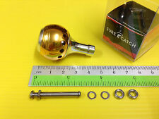 Surecatch Small Size Gold Color Handle Round Knob for Daiwa Spinning Reels.