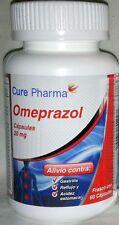 1 X 60 Caps Omeprazol Non-Presc OTC Omeprazole 20mg Heartburn GERD Acid Reflux