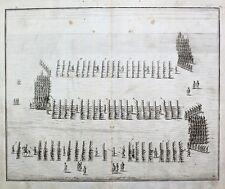 Militär Barock Musketier Füsilier Exerzieren Marsch-Formation Muskete Offizier
