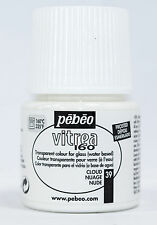 PEBEO VITREA 160 GLASS PAINTS GLOSSY FROSTED SHIMMERING & MEDIUMS 45ML OVEN BAKE