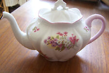 "Shelley  ""Stocks ""  #13428 - Tea Pot with Alternative White Lid"