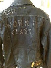 Diesel Denim Waxed Jacket, Trucker Jeans Style, Size L, MSRP $458.00