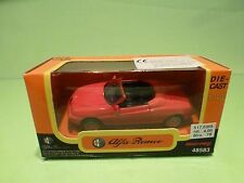 NEW RAY 48583 ALFA ROMEO SPIDER - 1996 - RED 1:43  - EXCELLENT IN BOX