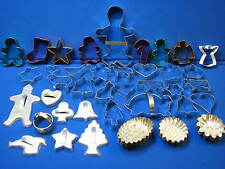 50+ Lot Metal Cookie Cutters Holiday Cupcake Tins Baking Made in Germany Forms +