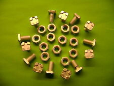 100 ALUMINIUM GREENHOUSE STANDARD SQUARE HEAD 11MM BOLTS AND NUTS