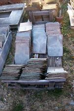 "Lot of 4 Antique Vintage New England Large 12"" x 18"" Roof Slate Tiles Shingles"