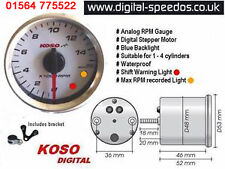 Koso D48 Rev RPM Gauge Motorcycle 1, 2, 3 or 4 cylinders, 4 stroke, 2 stroke,  W