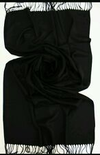 BLACK Luxury Original Cashmere & Silk Pashmina Wrap Scarf Shawl