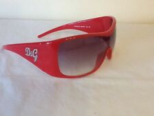 STUNNING GENUINE D&G RED AND DIAMANTE SUNGLASSES