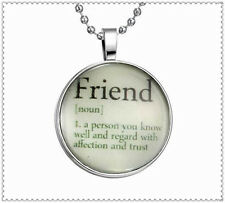 "Fashion Punk Style ""Friend"" Glow in the Dark Stainless Steel Necklace Pendant"